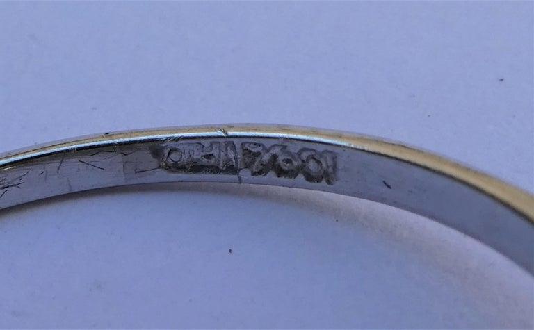 EGL Report Old European Cut 1.04 Carat Diamond Art Deco Platinum Engagement Ring In Excellent Condition For Sale In Munich, DE