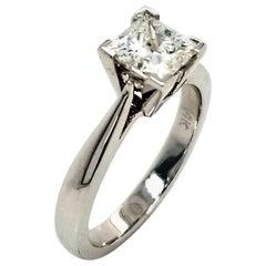 EGL US 1.21 Carat E/SI2 Princess Cut Diamond 14 Karat Solitaire Engagement Ring