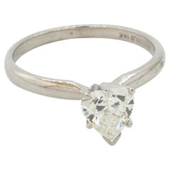 EGL USA Certified 14K WG 1.0CT SI2/F Heart Cut Diamond Solitaire Ring