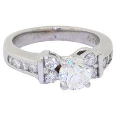 EGL USA Certified 14K White Gold 1.60CT Diamond Engagement Ring