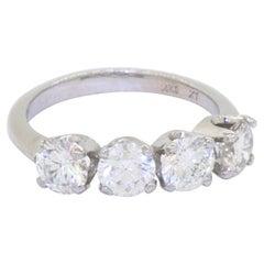 EGL USA Certified 14K White Gold 2.07CT VS/E-G Diamond Band Ring