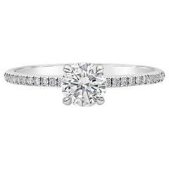 Roman Malakov EGL USA Certified Round Diamond Engagement Ring