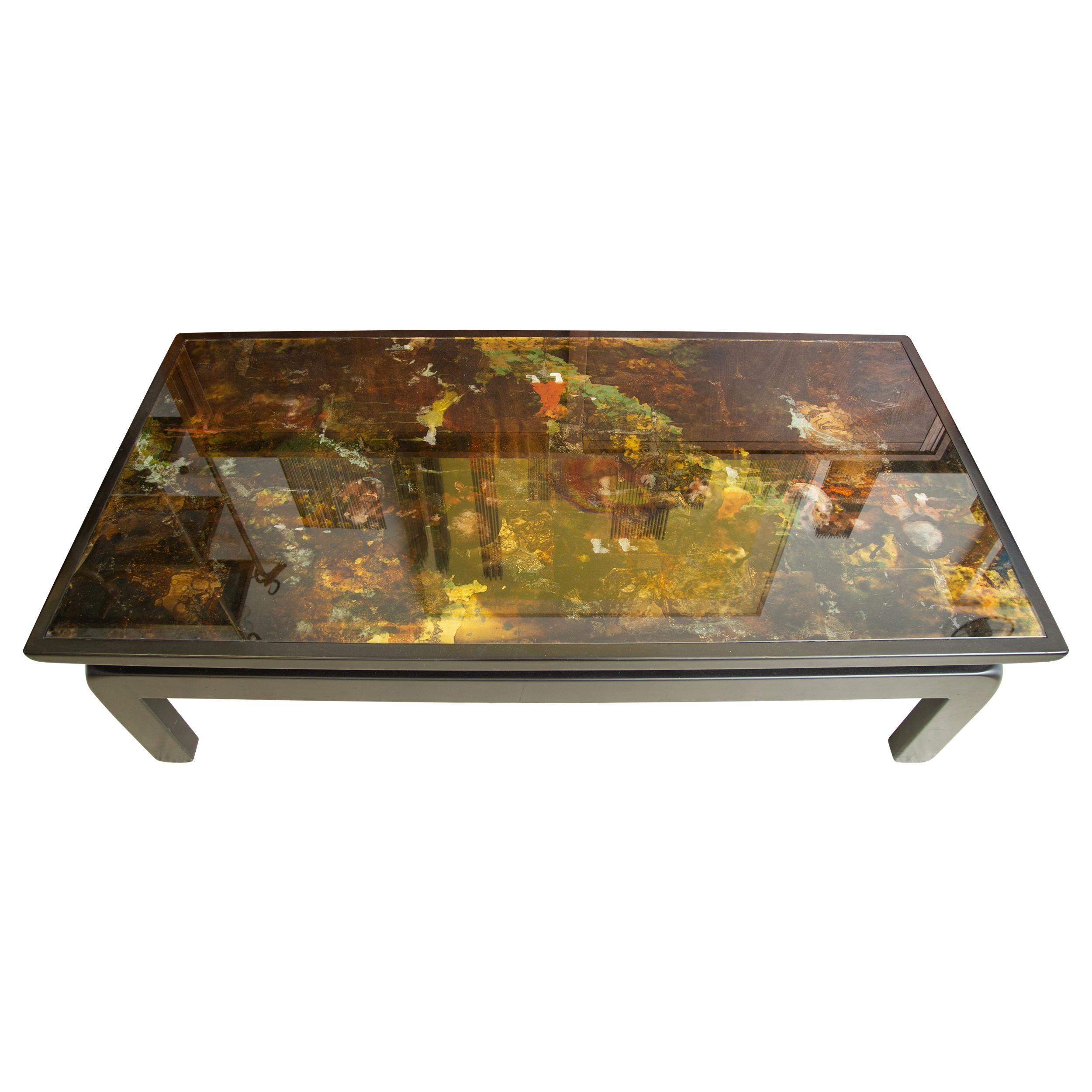 Églomisé Glass Coffee Table