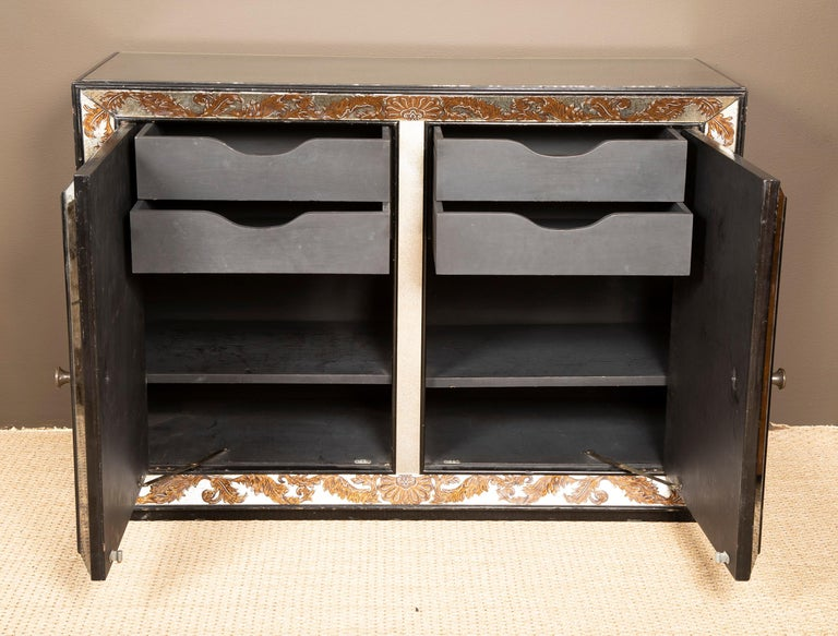 Églomisé Mirrored Cabinet by James Mont For Sale 1