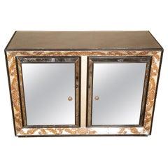 Églomisé Mirrored Cabinet by James Mont