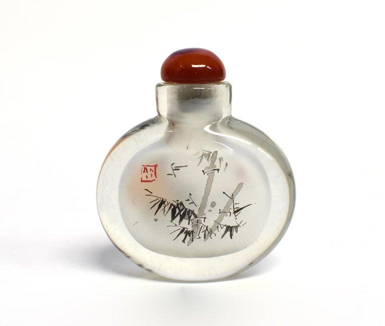 Églomisé Reverse Painted Snuff Bottles Set of Four Country Life For Sale 6