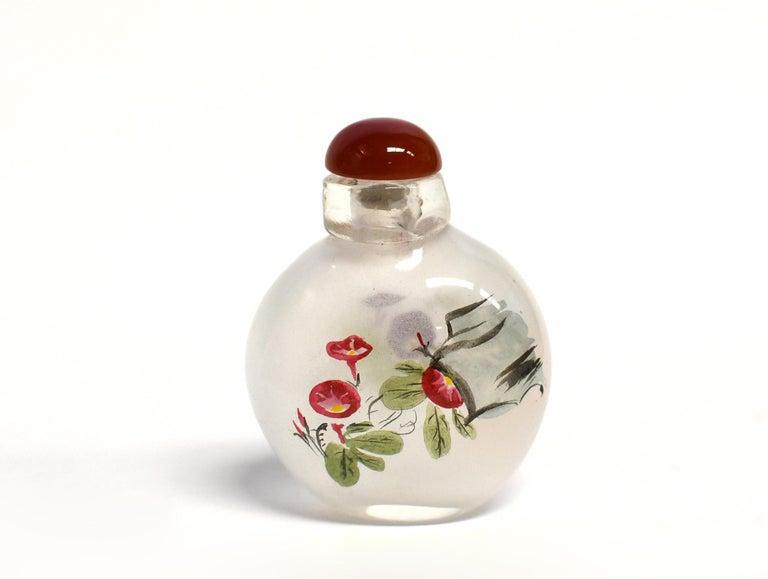 Églomisé Reverse Painted Snuff Bottles Set of Four Country Life For Sale 1