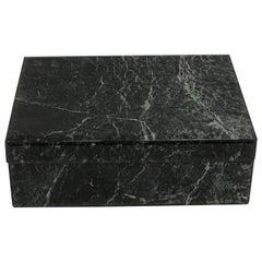 Églomisé Verdigris Marble Table Box