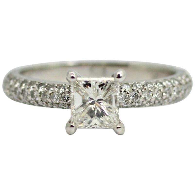 Eglusa Certificate 1.00 Princess Cut Diamond Graded F Color SI2 Clarity