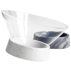 Egocentrico, Contemporary Centerpiece in Marble and Plexiglas
