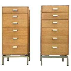 Egomme 1950s Chest of Draws Limba Mid-Century Modern Chest, Tall Chest of Draws