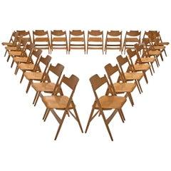 Egon Eiermann Folding Chairs SE 18 in Beech