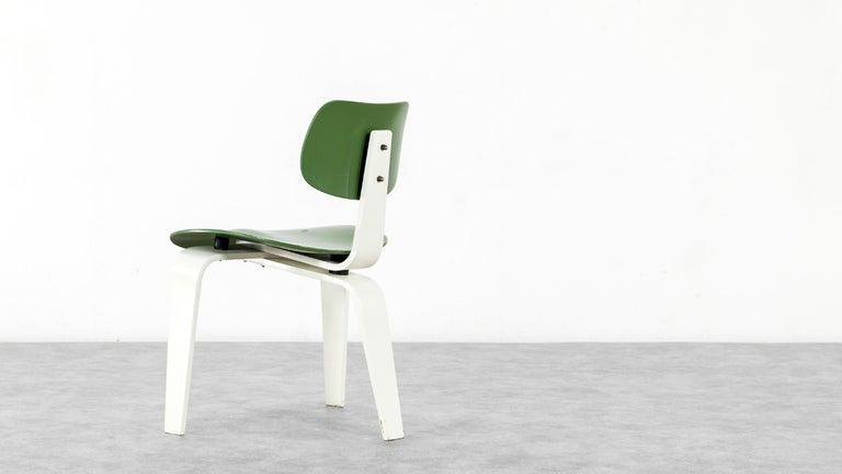 Egon Eiermann, Plywood Chair SE 42, Germany 1955 Early Edition Wilde & Spieth In Good Condition For Sale In Munster, NRW