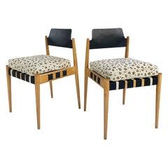 Egon Eiermann SE 120 Chairs with Custom Cushions in Chelsea Textiles, Pair