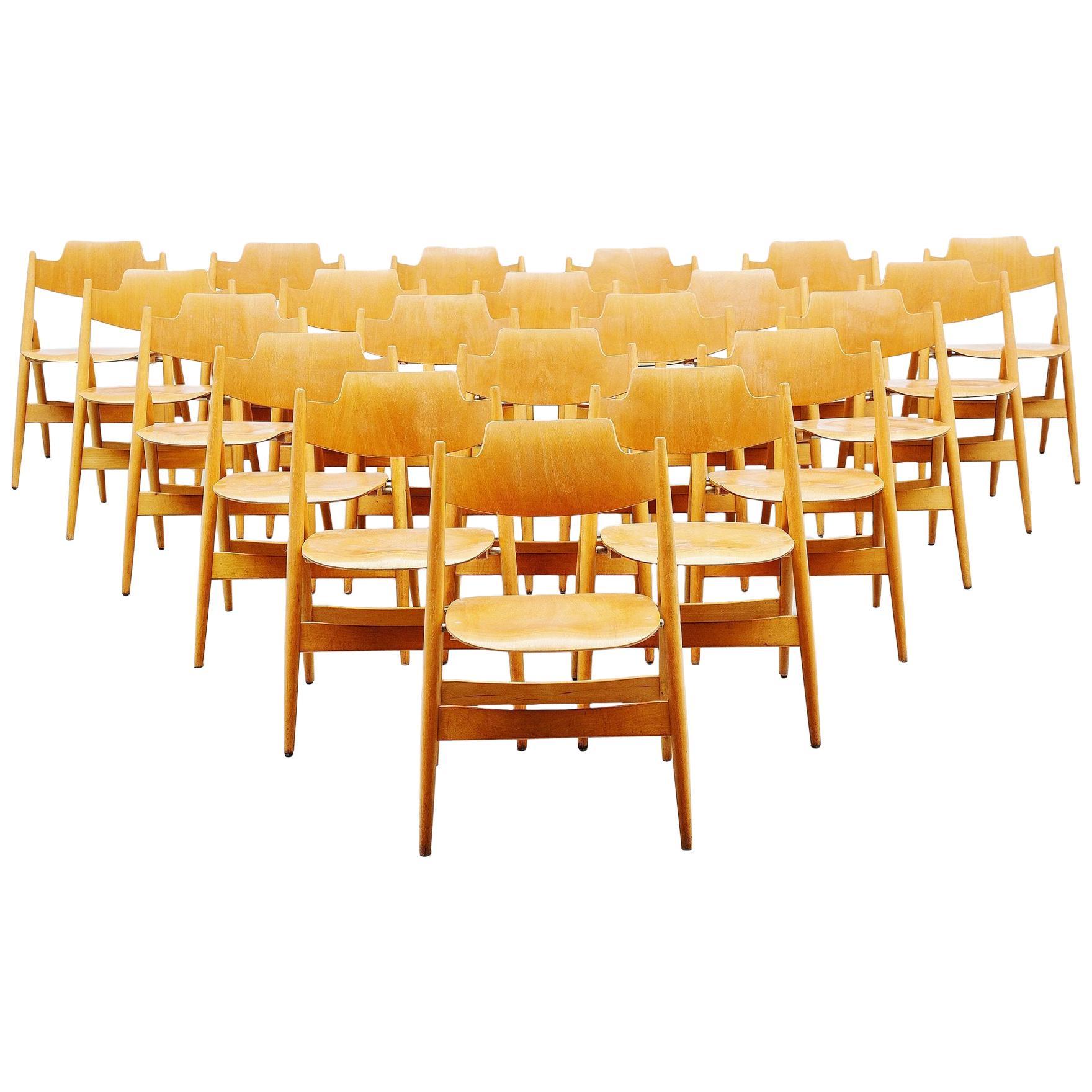 Egon Eiermann SE18 Folding Chairs Wilde & Spieth, 1952
