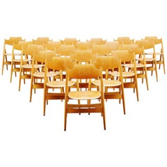 Egon Eiermann SE18 Folding Chairs Wilde & Spieth, 1952