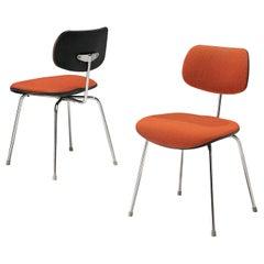Egon Eiermann Set of Two Steel Dining Chairs