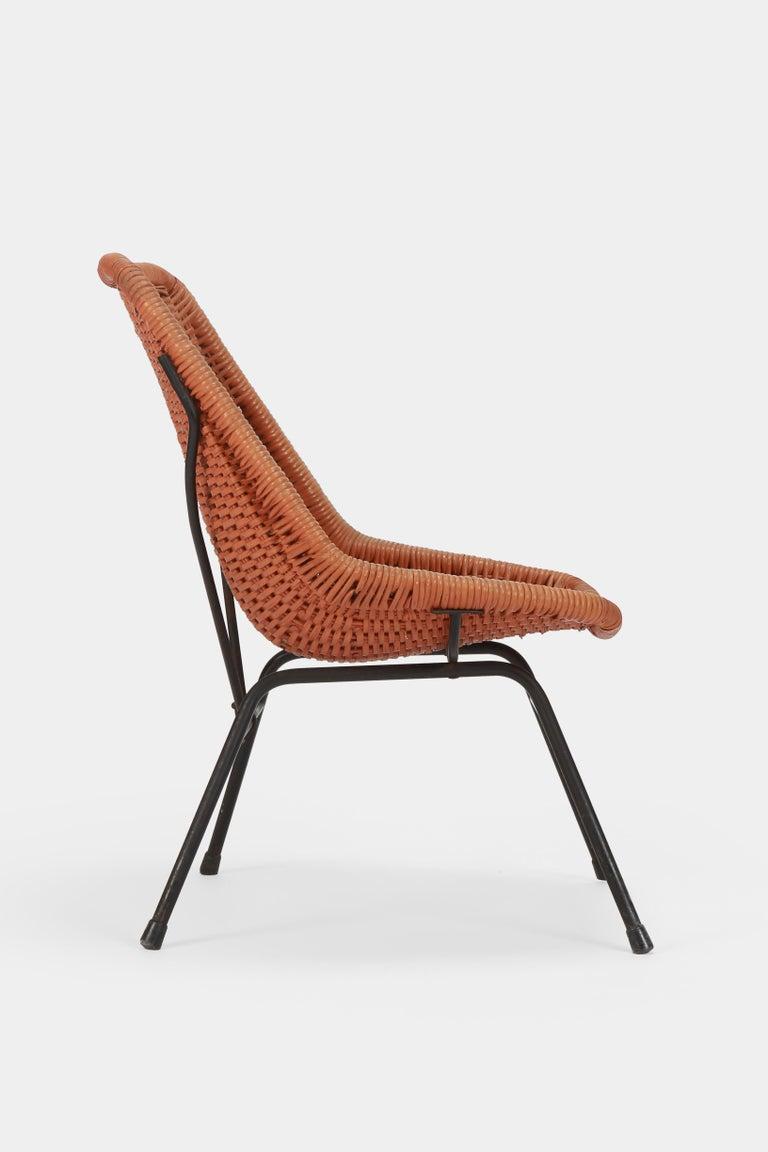 Reed Egon Eiermann Single Chair, 1950s For Sale