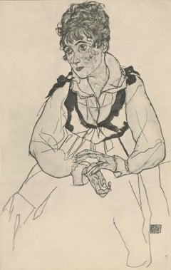 "R. Layni, Zeichnungen folio, ""The Artist's Wife, Seated"" Collotype plate VI"