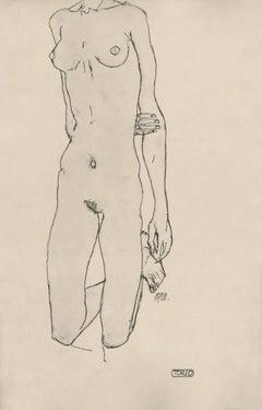 """R. Layni, Zeichnungen folio, """"Torso"""" Collotype plate IV"""