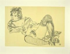 Reclining Woman - Original Lithograph after Egon Schiele - 2007