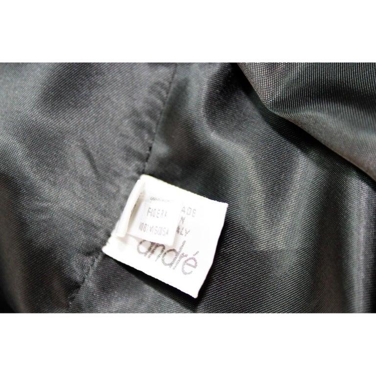 Egon Von Furstenberg Black Viscose Stones Jewel Evening Suit Dress and Jacket  For Sale 6
