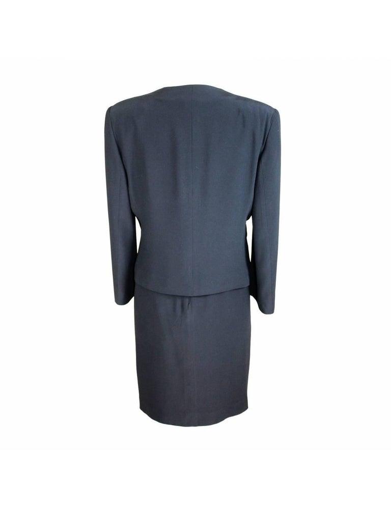 Egon Von Furstenberg Black Viscose Stones Jewel Evening Suit Dress and Jacket  In Excellent Condition For Sale In Brindisi, Bt