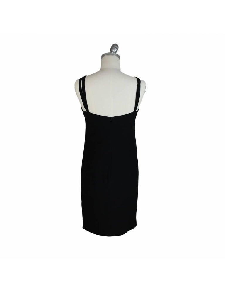 Egon Von Furstenberg Black Viscose Stones Jewel Evening Suit Dress and Jacket  For Sale 2