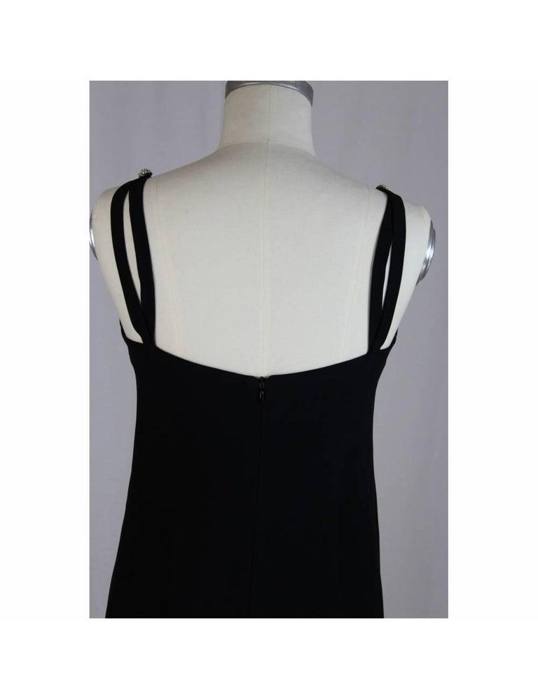 Egon Von Furstenberg Black Viscose Stones Jewel Evening Suit Dress and Jacket  For Sale 4