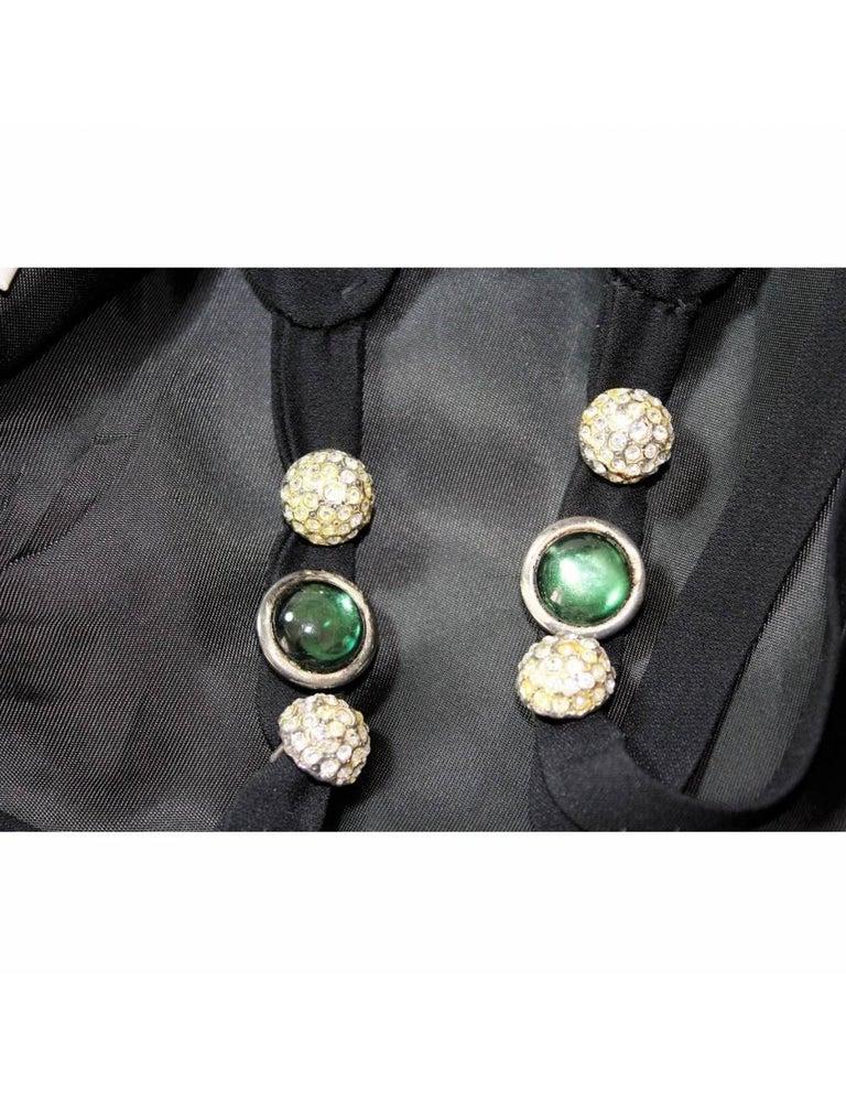 Egon Von Furstenberg Black Viscose Stones Jewel Evening Suit Dress and Jacket  For Sale 5