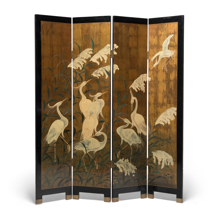 Used to partition a room and block unpleasant drafts, the standing screen has long been a fixture of Chinese and Japanese interiors. Carefully placed to instill harmony, a tall screen offered privacy and provided an expansive surface for fine