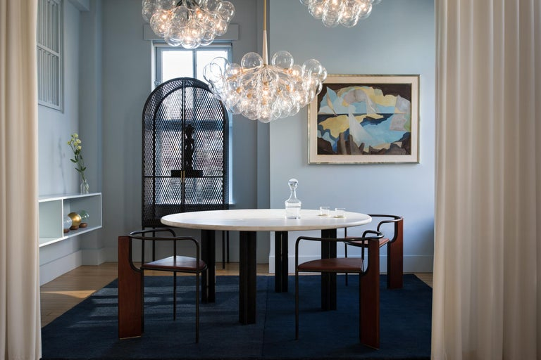 Egsu Dining Table in Bleached Maple and Petite Granite Limestone by Pelle In New Condition For Sale In New York, NY