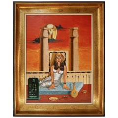 Egypt Painting Sat Ra Daughter of the Sun by H Bauwens Belgium