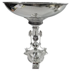 Egyptian Classical Centerpiece Compote by Ball, Black of New York