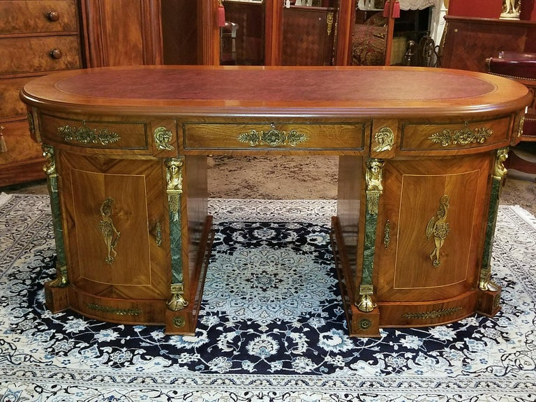 Neoclassical Revival Egyptian Classical Revival Desk For Sale