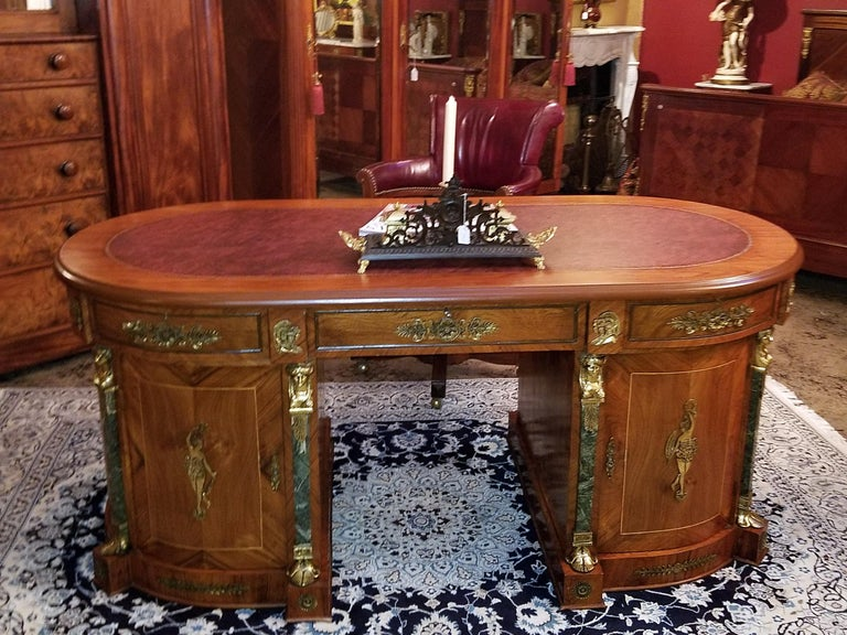 Egyptian Classical Revival Desk In Good Condition For Sale In Dallas, TX