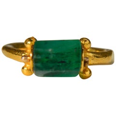 Egyptian Emerald 14 Karat Gold Metropolitan Museum of Art Hellentisic Ring