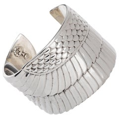 Egyptian Goddess Isis Wing Cuff in Sterling Silver