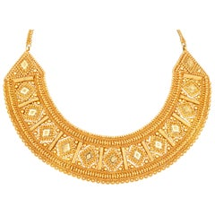 Egyptian-Inspired Gold Collar Necklace
