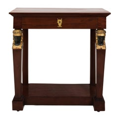 Egyptian Revival Console Table, circa 1880