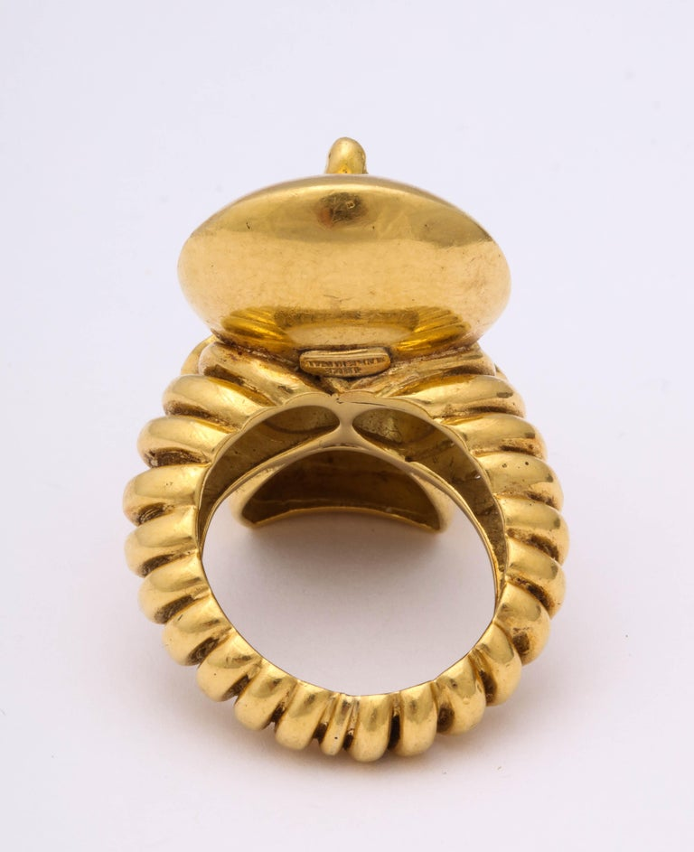 Egyptian Revival Gold Ring For Sale 1