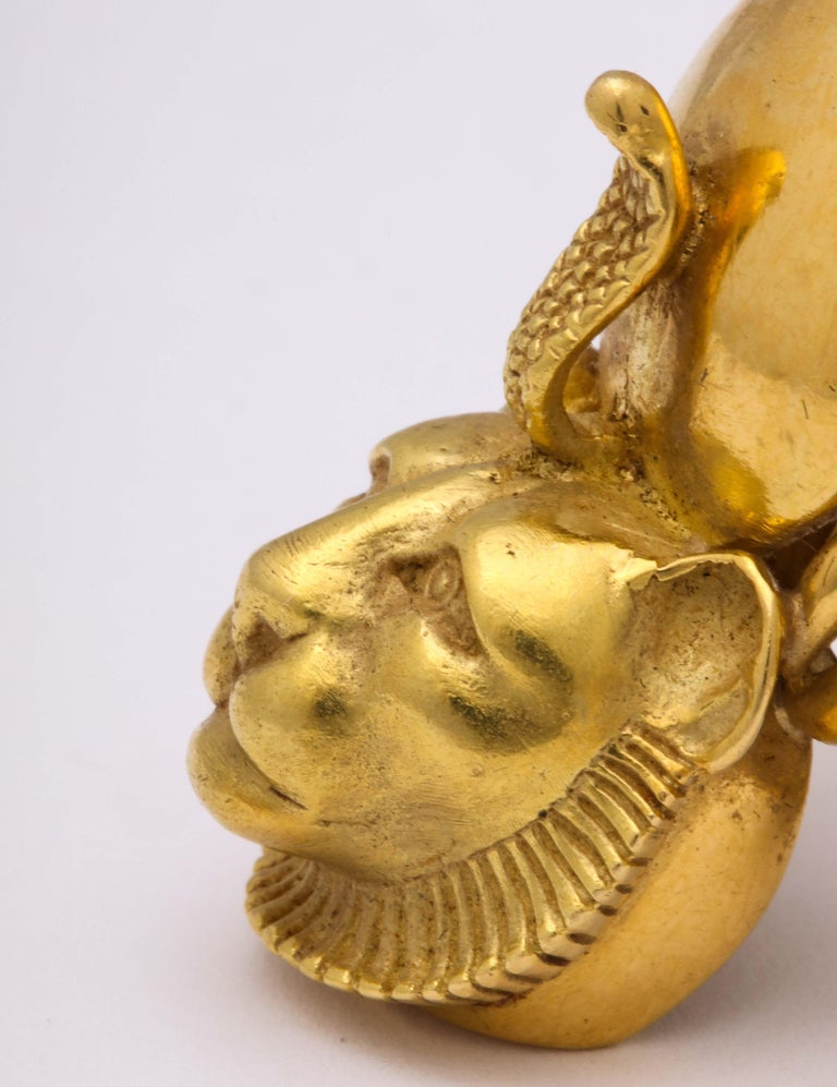 Egyptian Revival Gold Ring For Sale 3