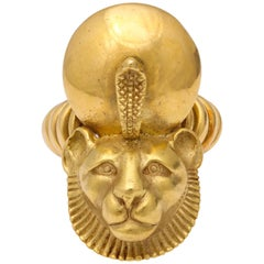 Egyptian Revival Gold Ring
