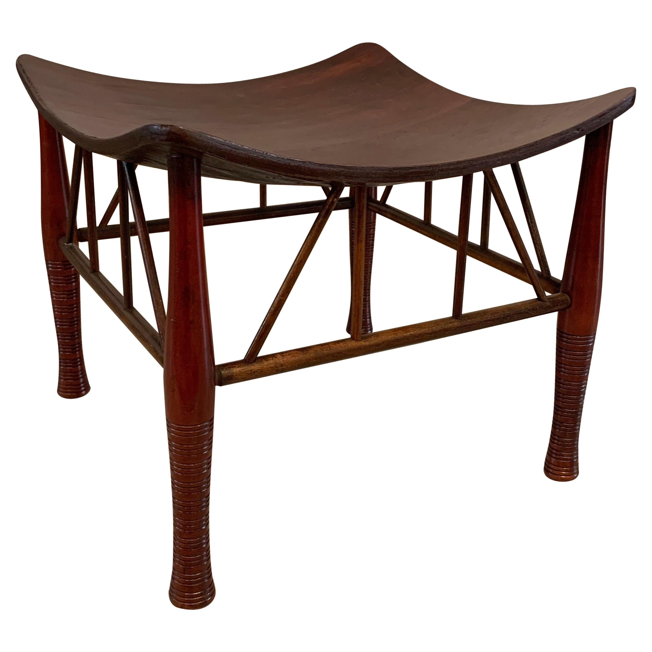 Egyptian Revival Maple Thebes Stool, Liberty & Co.