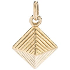 Egyptian Revival Pyramid Yellow Gold 18 Karat Charm