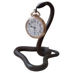 Egyptian Revival Snake Form Pocket Watch Holder