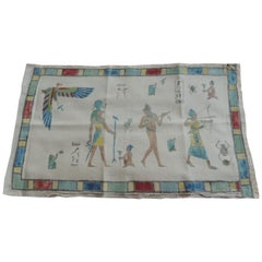 Egyptian Revival Style Hand Painted Textile