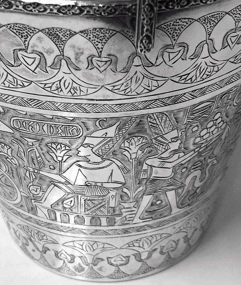 20th Century Egyptian Silver Wine Bucket, circa 1920 For Sale
