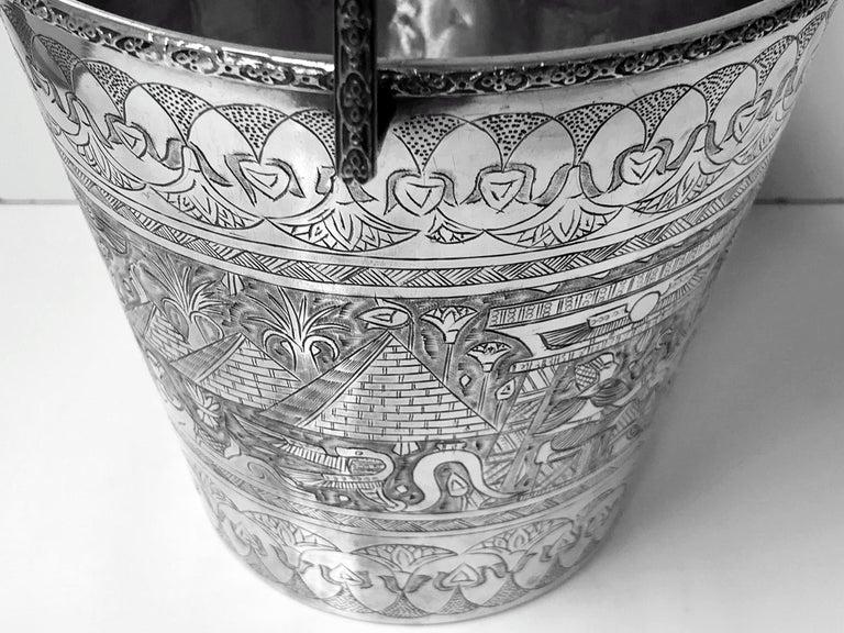 Egyptian Silver Wine Bucket, circa 1920 For Sale 1