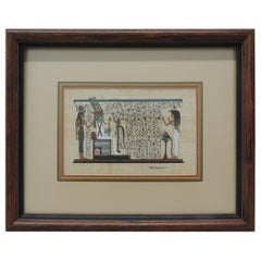 Egyptian Souvenir Framed Art Depicting Temple Scene
